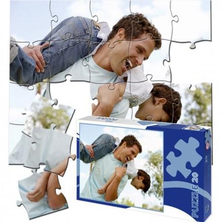 Fotopuzzle A4 - 20 dílků s vlastní fotkou i na krabičce - pro prarodiče