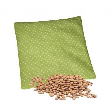 Nahřívací polštářek - třešňové pecky jako obklad, Design třešňového polštářku Zelené s bílými puntíky