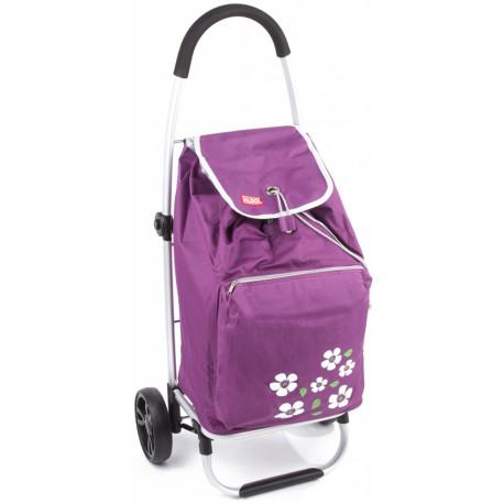 Designová nákupní taška na kolečkách Malaga - fialová