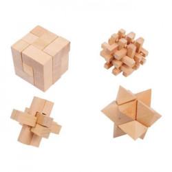 Set 4 dřevěných hlavolamů