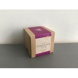 Čokoládové penízky v krabičce - hořká čokoláda 72%