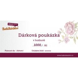 DÁRKOVÝ POUKAZ v hodnotě 1000,- Kč