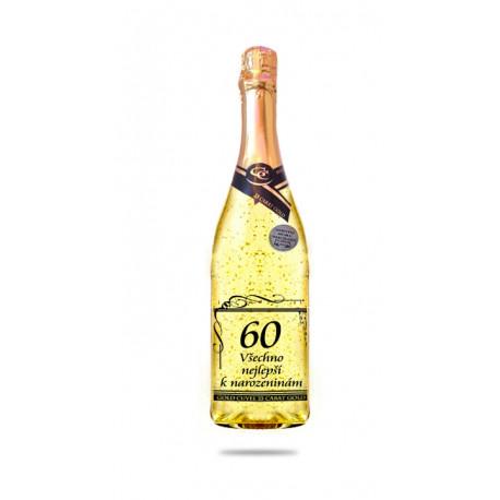 Narozeninové víno se zlatem - 60 let