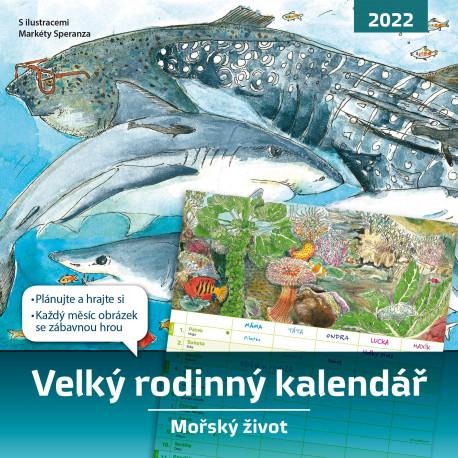 Velký rodinný kalendář 2022 – Mořský život