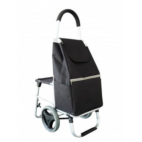 Nákupní taška na kolečkách se sedátkem - Comfort