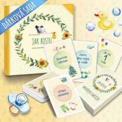Dárková sada kniha Jak rostu a Milníkové kartičky