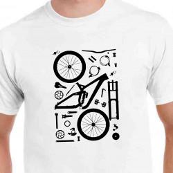 Tričko Cyklo součástky