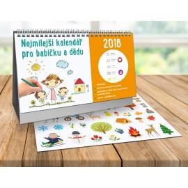 Nejmilejší kalendář pro babičku a dědu 2018