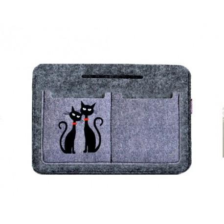 Organizér do kabelky, Motiv Dvě černé kočky