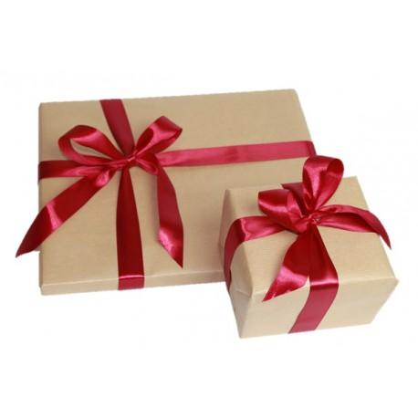 Kraftový balící papír s luxusni stuhou (zabalen právě 1ks zboží)