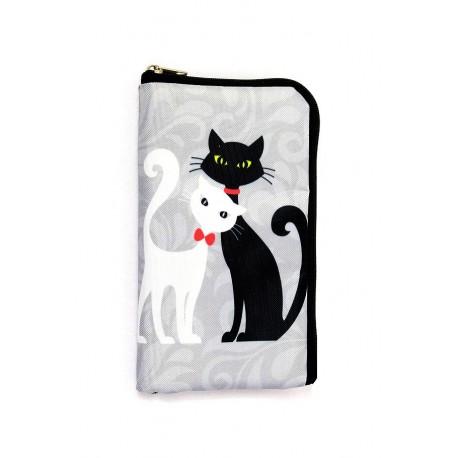 Obal na brýle nebo telefon, Obal Bílá a černá kočka