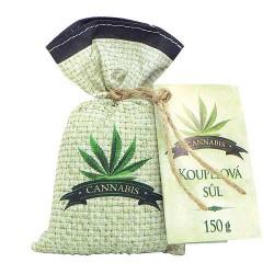 Dárkový pytlíček koupelové soli - Cannabis
