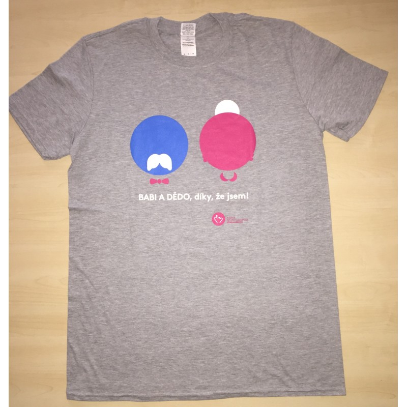 Levně Pánské tričko KRÁSA POMOCI - Babi a dědo, díky, že jsem