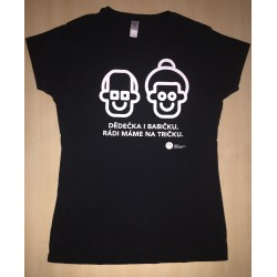 Dětské tričko KRÁSA POMOCI - Dědečka a babičku, rádi máme na tričku