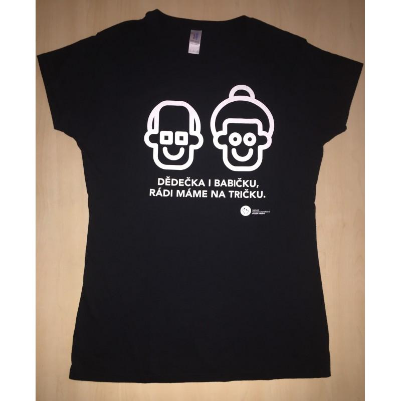 Levně Dětské tričko KRÁSA POMOCI - Dědečka i babičku, rádi máme na tričku
