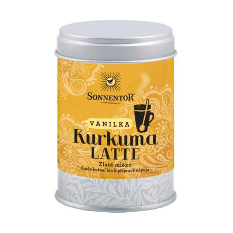Kurkuma Latte,  bio vanilka