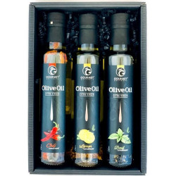 Triáda olivových olejů s příchutí