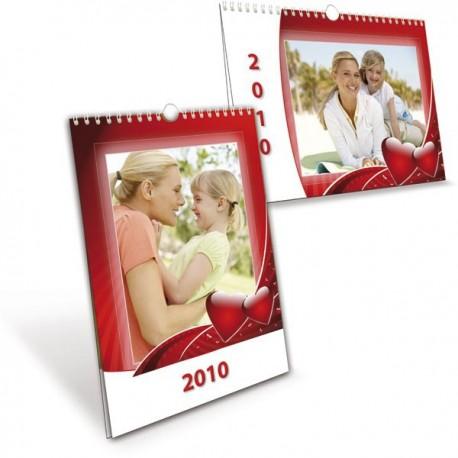 Kalendář A4 na příští rok s fotkami rodiny pro prarodiče