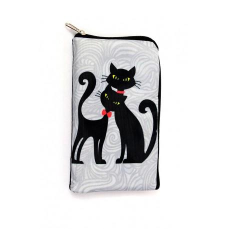 Obal na brýle nebo telefon, Obal 2 černé kočky
